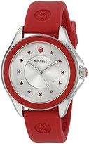Michele Women's 'Cape' Quartz Stainless Steel and Silicone Dress Watch, Color:Red (Model: MWW27A000017)