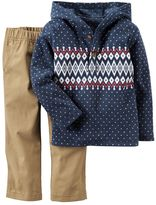 Carter's Baby Boy Hooded Fleece Pullover Top & Pants Set