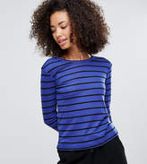 Monki Stripe Long Sleeve Stripe T-Shirt