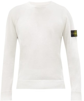 Stone Island Logo-patch Wool Sweater - White