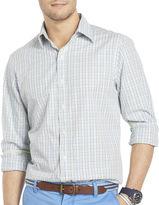 Izod Long-Sleeve Slim-Fit Checked Shirt