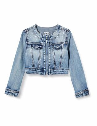 MEK Girl's Giubbino Jeans Stretch Coat