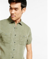 Express short sleeve soft twill shirt