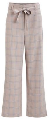 Dorothy Perkins Womens Vila Checked High Waist Trousers