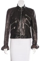Dolce & Gabbana Leather Zip-Front Jacket