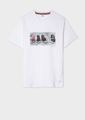 Paul Smith Women's White 'Piggin Out' Print Organic-Cotton T-Shirt