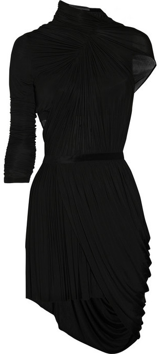 Alexander Wang Asymmetric fine-jersey dress