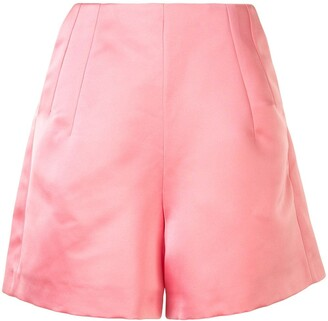 Dice Kayek Satin Thigh-Length Shorts