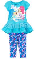 Children's Apparel Network Shimmer & Shine Blue Ruffle Top & Leggings - Toddler & Girls