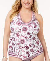 Becca Etc Plus Size Tahiti Scalloped Tankini Top
