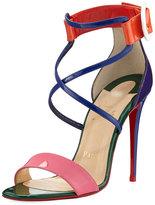 Christian Louboutin Choca Colorblock Red Sole Sandal, Multi
