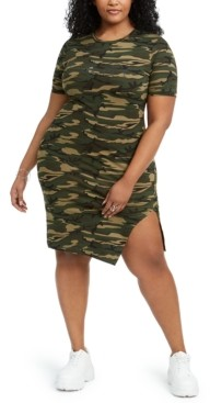 Lala Anthony Trendy Plus Size Statement T-Shirt Dress, Created for Macy's