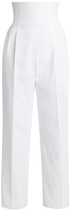 Alaia High-Waist Corset Pants