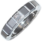 Chopard 750 White Gold Diamond Ice Cube Ring Size 4