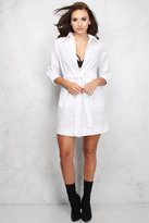 Rare White Tie Front Shirt Dress