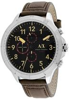 Armani Exchange Chronograph Collection AX1755 Men's Leather Strap Watch