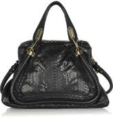 Chloé The Paraty medium python and leather shoulder bag