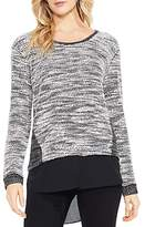 Vince Camuto Marled Mixed Media Shirttail Top
