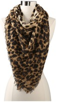 Alexander McQueen SL Leopard Amq C Scarve