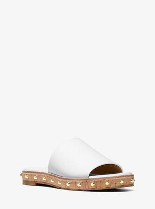 Michael Kors Ellen Leather Slide Sandal