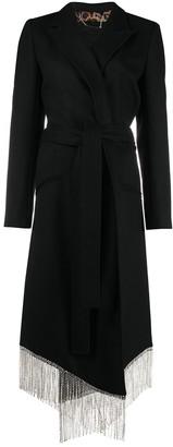Philipp Plein Nara crystal fringe coat