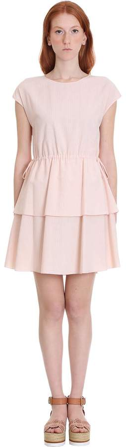See by Chloe Dress In Rose-pink Cotton