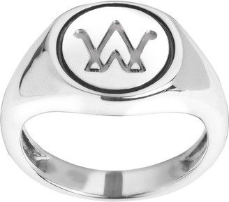 American West Sterling Logo Ring