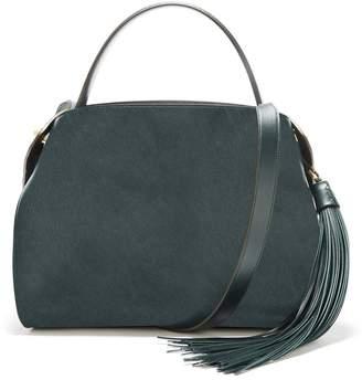 Oscar de la Renta Spruce Leather Nolo Bag