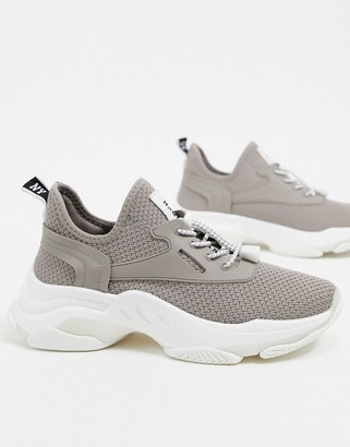 Steve Madden Match chunky sneakers in light taupe