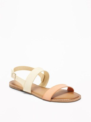 Old Navy Faux-Leather Double-Strap Slingback Sandals for Women