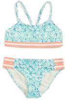 Roxy Girl's Caribbean Days Two-Piece Halter Swimsuit
