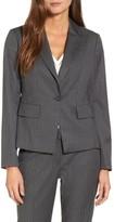 Women's Halogen Pinstripe One-Button Suit Jacket
