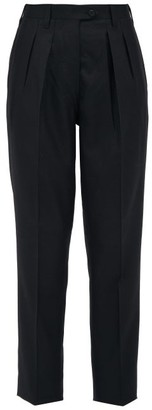 Giuliva Heritage Collection The Husband Pleated Virgin Wool-twill Trousers - Black