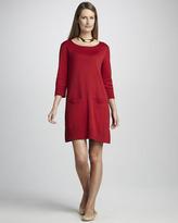 Joan Vass Two-Pocket Pima Dress, Petite