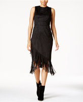 Rachel Roy Fringe Crossover Shift Dress