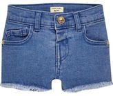 River Island Mini girls blue denim shorts