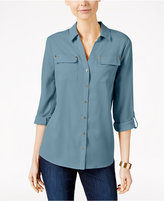 Charter Club Petite Utility Shirt, Only at Macy's