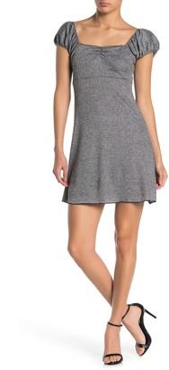 Luna Chix Metallic Bubble Sleeve Mini Dress