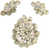 One Kings Lane Vintage Eisenberg Crystal Brooch Suite