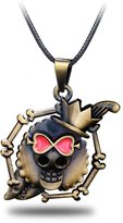 CG Costume One Piece Necklace Anime Luffy Skull Alloy Fancy Cosplay Costume