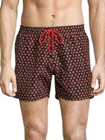 Paul Smith Allover Strawberry Skull Printed Shorts