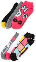Betsey Johnson 6-Pack Low Cut Games Socks