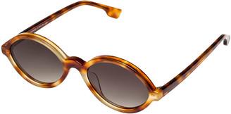 Le Specs Luxe Impromptus Oval Acetate Sunglasses