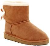 UGG Mini Bailey Genuine Lamb Fur Lined Bow Boot (Big Kid)
