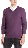 Vince Camuto Men's Plaited V-Neck Sweater