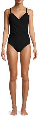 Gottex Swim Ruched One-Piece Swimsuit