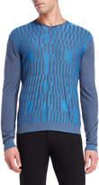 Armani Collezioni Striped V-Neck Sweater