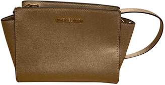 Michael Kors Selma Gold Leather Handbags