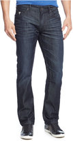 GUESS Men's Regular Straight Fit Riverfront-Wash Jeans