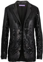 Ralph Lauren Tess Sequined Silk Jacket